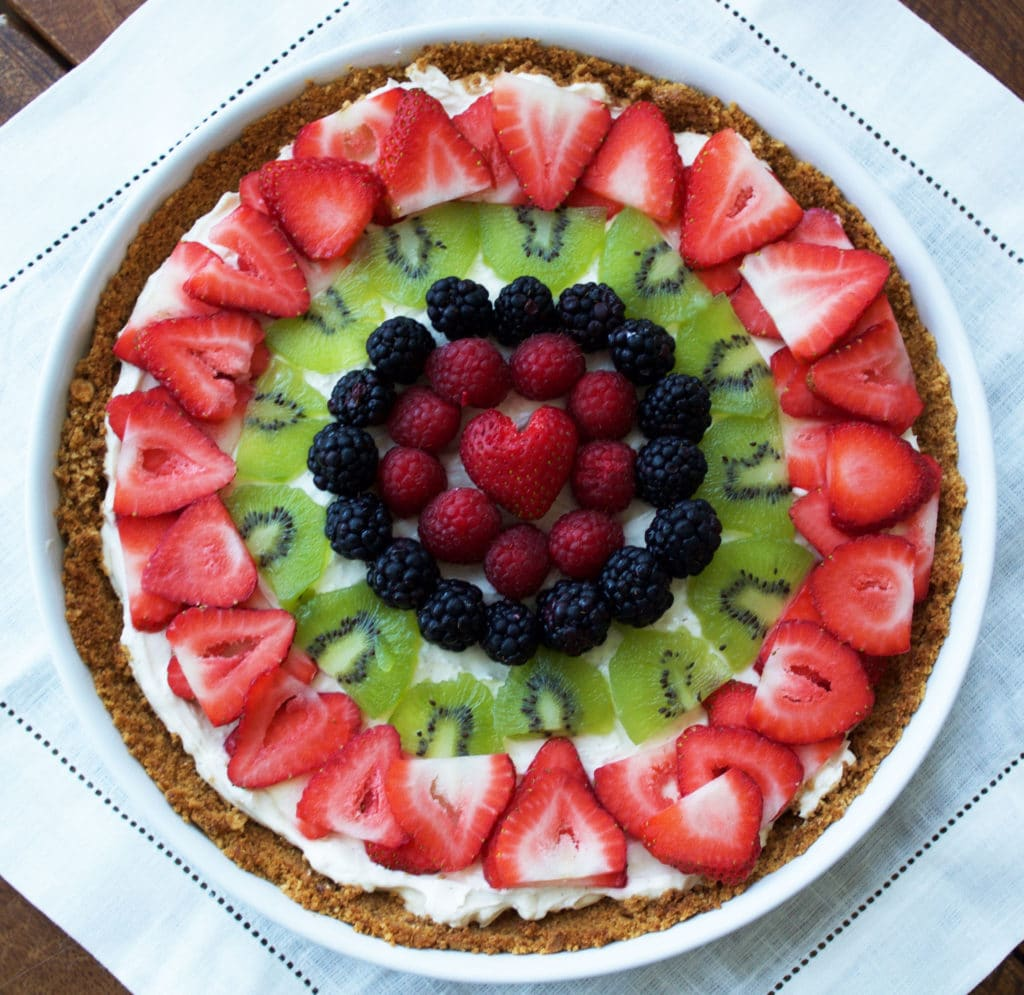 Cheesecake Fruit Tart {Gluten-Free, Healthy, No Bake ...
