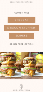 Cheddar & Bacon Stuffed Sliders {Gluten-Free, Grain-Free Option}