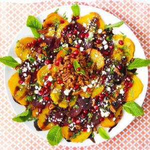 Rainbow Roasted Beet Salad {Grain-Free}