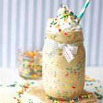 Birthday Cake Protein Shake {Healthy, Dairy-Free, Paleo}