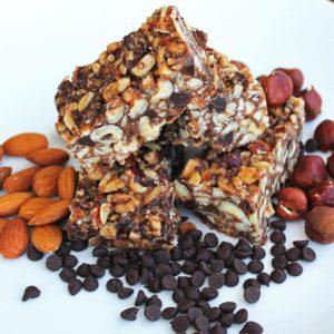 {No-Bake}Chocolate Hazelnut Bars
