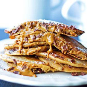 Cookie Dough Stuffed Pancakes {Indulgent & Healthy!} {Gluten-Free&Grain-Free Option}