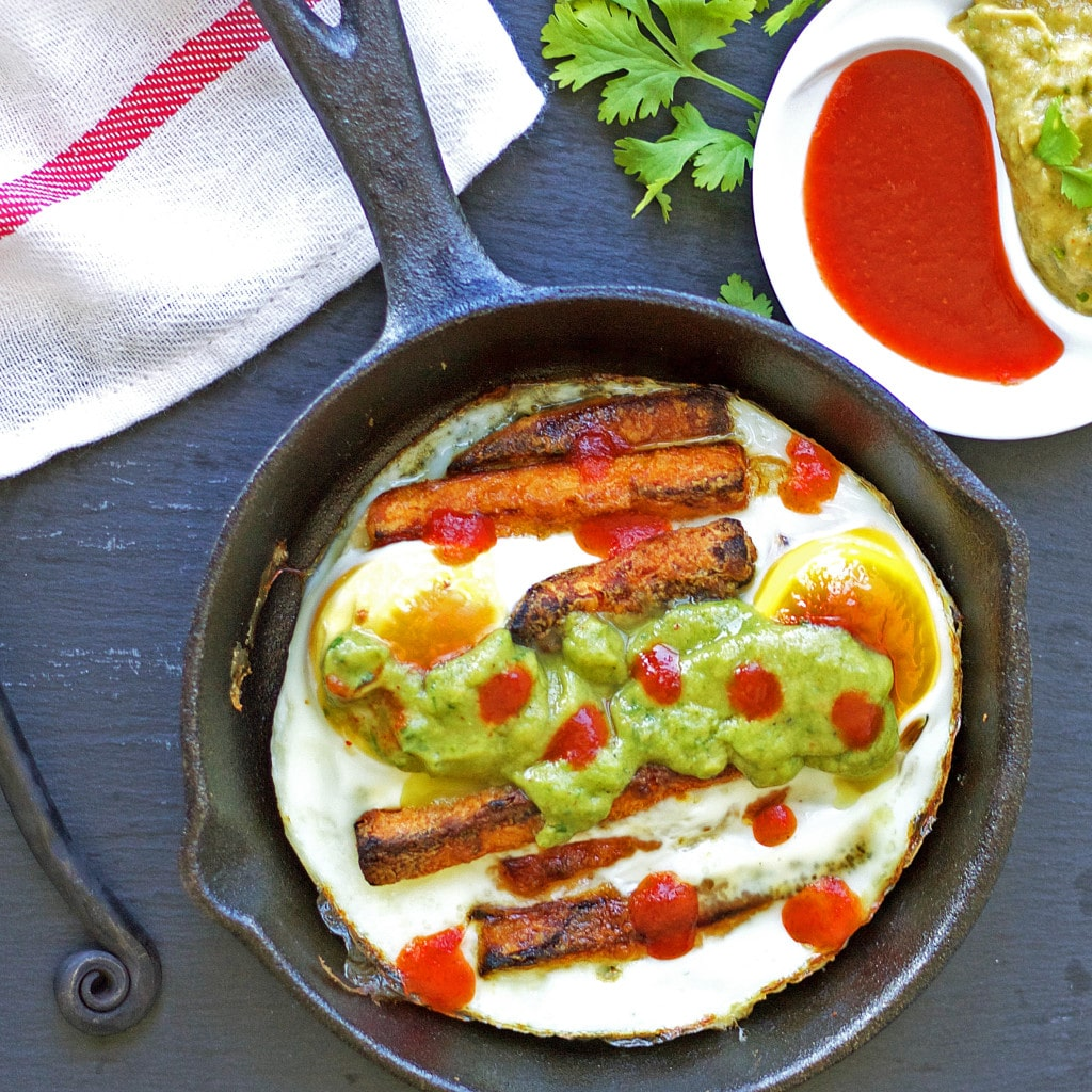 Egg & Sweet Potato Fries Skillet