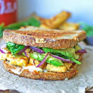 Tempeh & Avocado Grilled Cheese {Gluten-Free}