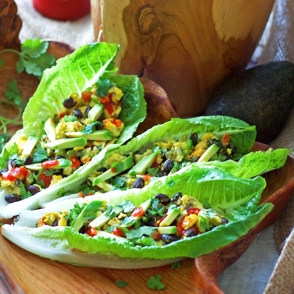 Mexican Breakfast Scramble Lettuce Wrap