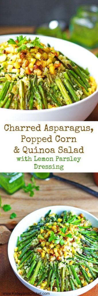 Asparagus Corn Quinoa Salad Collage