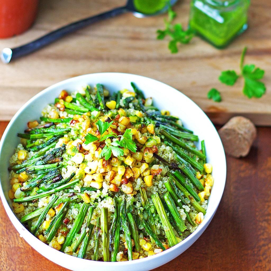 Asparagus Corn Quinoa Salad2