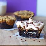 Cookies n' Cream Stuffed Brookie {Gluten-Free,Vegan, Grain-Free/Paleo Option}
