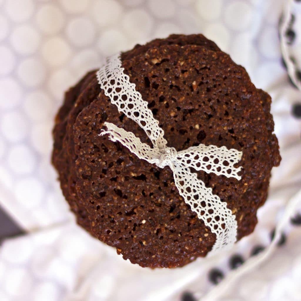 Chocolate Lace Cookie {Grain Free, Gluten Free, Paleo}