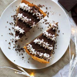 Chocolate Silk Pie {Made in a Blender! Dairy-Free, Grain-Free, Gluten-Free, Paleo}