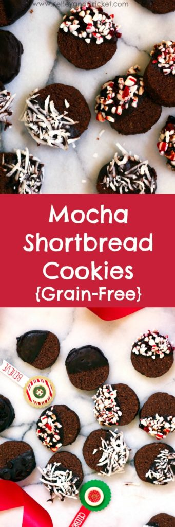 Mocha Shortbread Cookies Collage