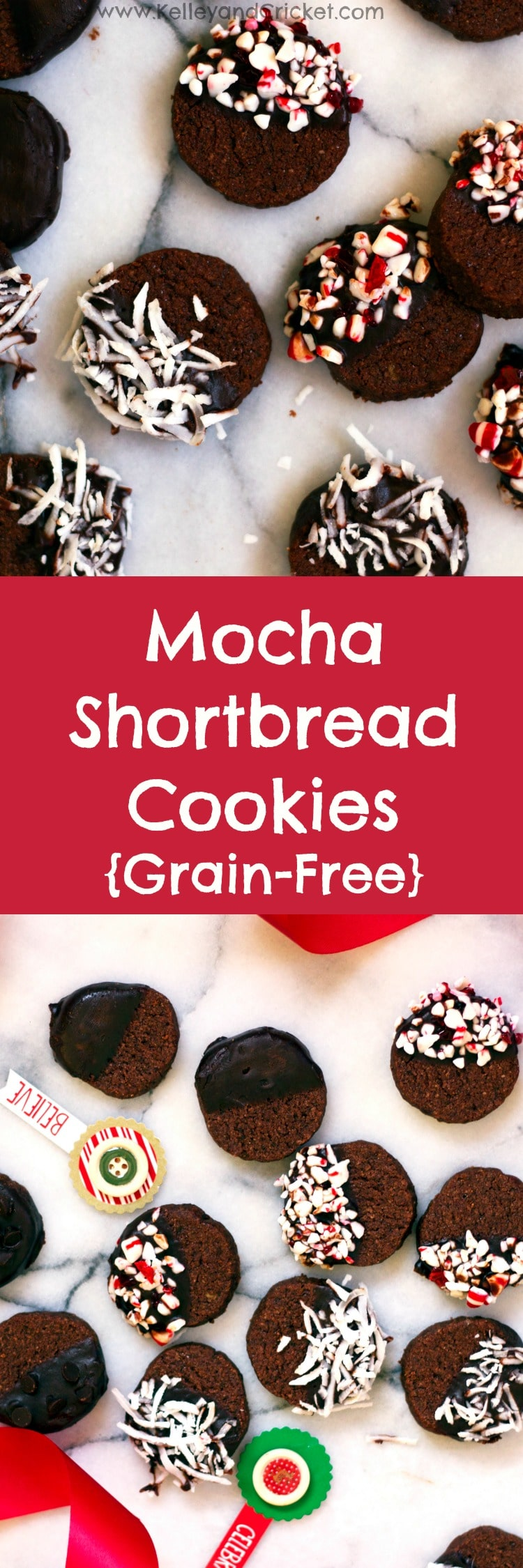 Mocha Shortbread {Grain-Free, Gluten-Free, Paleo} - Kelley and Cricket