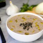 Creamy Mushroom Soup {Grain Free, Dairy Free, Paleo}
