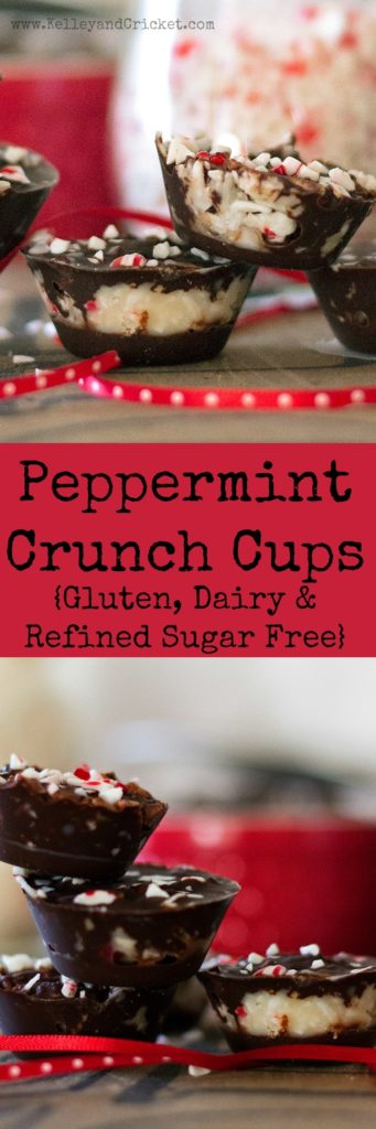 Peppermint Crunch Cups Collage