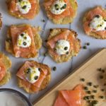 Smoked Salmon & Creme Fraise on Yuca Crisps {Grain-Free, Gluten-Free, Dairy-Free and Paleo}