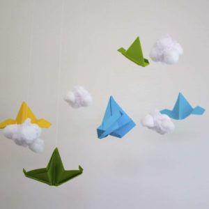 Planes and Clouds Mobile DIY