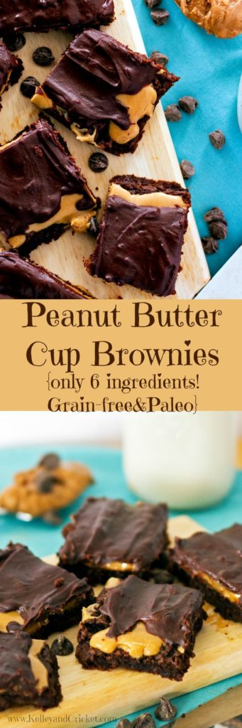 Peanut Butter Brownies Collage