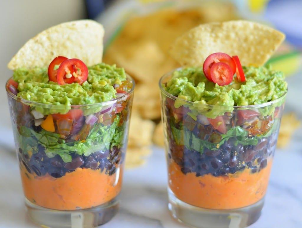 Superbowl Vegan, Gluten-Free, Dairy Free Cinco de Mayo Recipe - 7 Layer Sweet Potato Bean Dip - Luci's Morsels -- Healthy Food Blog-4