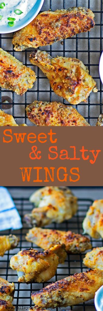 Sweet and Salty Wings Collage