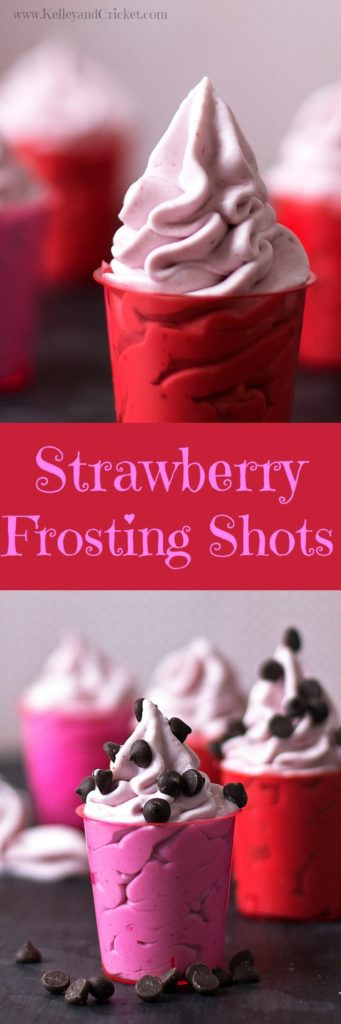 Strawberry Frosting Shots Collage
