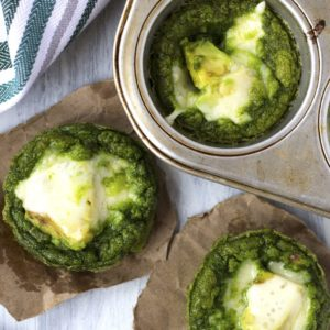 Green Egg Avocado Stuffed Muffins