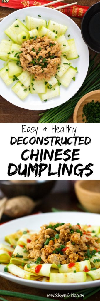 "Why order take-out when you can make these Deconstructed Chinese Dumplings? These tasty ""deconstructed dumplings"" are super easy, very healthy, and will surely satisfy your dumpling cravings, while saving you hundreds of calories! They are bursting with fresh, salty, savory, mouth-watering flavor! Only a few simple ingredients, one pan, and your done! They make a great tasty and healthy meal for the entire family."