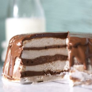 3 Ingredient Chocolate & Banana Cream Ice Cream Cake