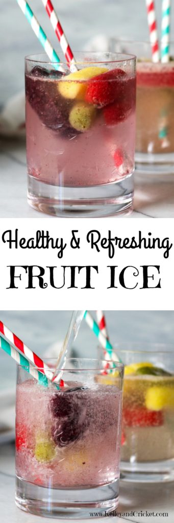 Frozen Fruit Ice is the perfect way to make a healthy and fruity soda, and it's so easy! This ice is made from 100% pure fruit and it looks as good as it tastes.