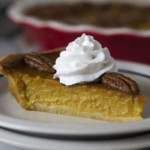Pumpkin Pie with Sticky Pecans
