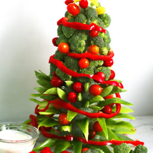 Veggie Christmas Tree (How To VIDEO)