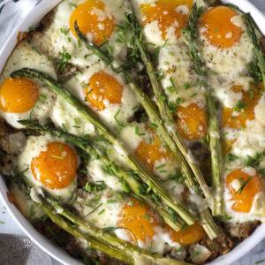 Asparagus & Hashbrown Egg Casserole