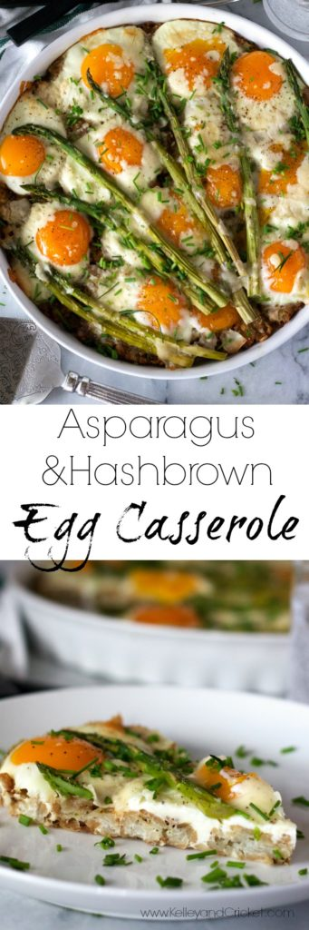 Start your weekend off right with this flavor-packed, delicious, and gorgeous Asparagus and Hashbrown Egg Casserole! It's super easy and quick to make, yet fancy enough to serve for Sunday brunch. Grain free, gluten free, and has a paleo recipe option.