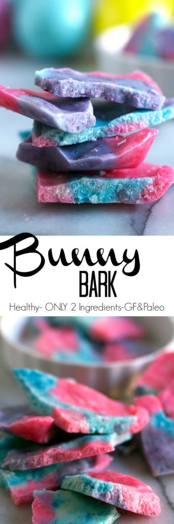 This melt-in-your-mouth candy, affectionately called Bunny Bark, is made from only 2 simple ingredients, and is ready in just a few minutes! Naturally sweetened, Bunny Bark, will be a popular (healthy) stand-in for traditional Easter candy!
