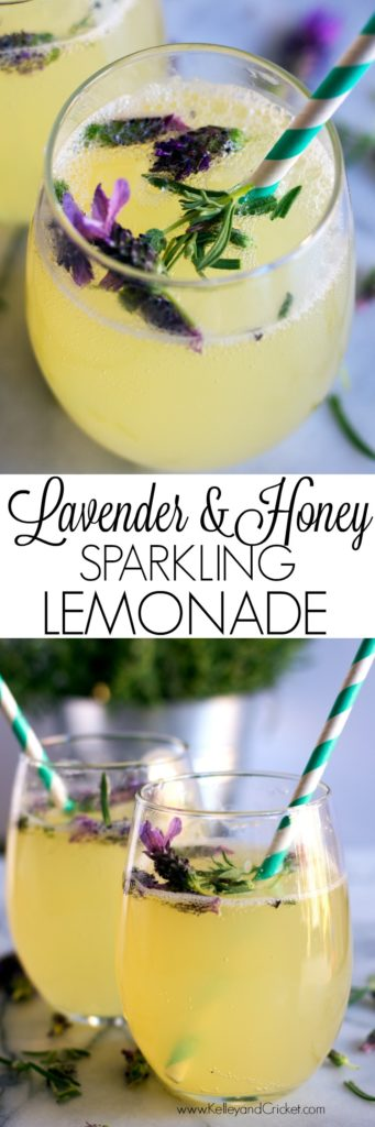 Lavender & Honey Sparkling Lemonade has the subtle sweetness of golden honey, tart and refreshing lemony zest, gentle floral notes, and the perfect amount of bubbly sparkle! This Springtime-inspired bubbly beverage is great for brunch. Healthy, and not too sweet, this delicious and beautiful mocktail will be a huge hit!