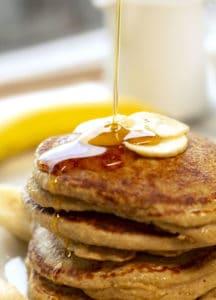 Banana Oatmeal Pancakes| Gluten Free, Healthy & Extra Fluffy